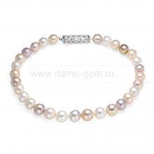 "Ожерелье из 30 жемчужин из речного жемчуга ""микс"" 11,5-13,5 мм. Артикул 12602"