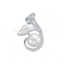 Кулон из серебра с белой жемчужиной 9,5-10 мм. Артикул 12617