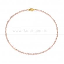 Ожерелье из рисообразного розового жемчуга 5 мм. Артикул 12712