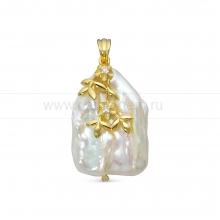 Кулон из серебра с белой барочной жемчужиной 20 мм. Артикул 12767