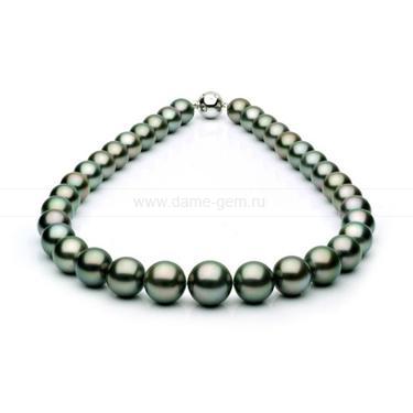 Колье (ожерелье) из черного Таитянского морского жемчуга. Артикул 7637