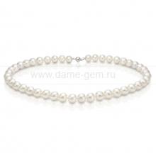 Колье (ожерелье) из белого морского жемчуга 9-10 мм. Артикул 7650