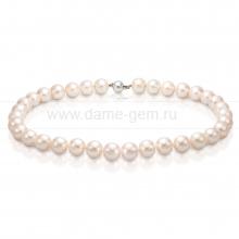 Ожерелье из белого круглого морского жемчуга 11-11,5 мм. Артикул 7652