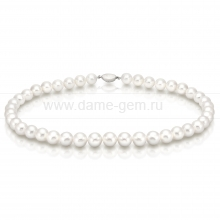 Ожерелье из белого круглого морского жемчуга 10,5-11,5 мм. Артикул 7654