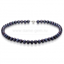 Колье (ожерелье) из черного речного жемчуга. Артикул 7690