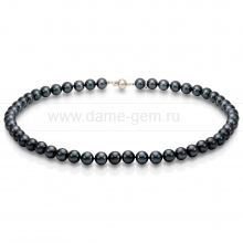 Колье (ожерелье) из черного морского жемчуга. Артикул 7693