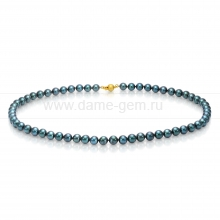 Колье (ожерелье) из черного жемчуга. Артикул 7695