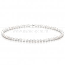 Ожерелье из белого морского жемчуга Акойя (Япония) 6-6,5 мм. Артикул 7712