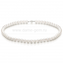 Ожерелье из белого морского жемчуга Акойя (Япония) 7-7,5 мм. Артикул 7713