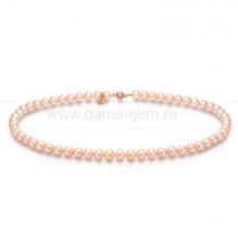 Колье (ожерелье) из персикового морского жемчуга. Артикул 7716