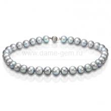 Колье (ожерелье) из серого речного жемчуга. Артикул 8287