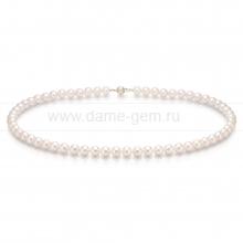 Ожерелье из белого морского жемчуга Акойя (Япония) 6,5-7 мм. Артикул 8288