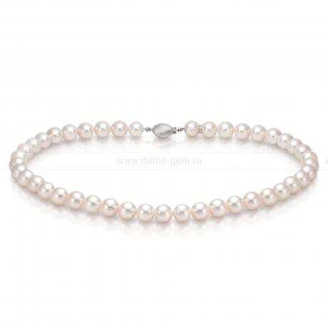 Ожерелье из белого морского жемчуга Акойя (Япония) 8,5-9 мм. Артикул 8289
