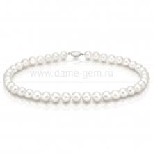 Ожерелье из белого морского жемчуга Акойя (Япония) 9-9,5 мм. Артикул 8290