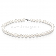 Ожерелье из белого круглого речного жемчуга 9-10 мм. Артикул 8294