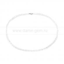 Колье (ожерелье) из белого барочного  жемчуга. Артикул 8312