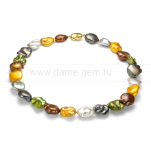 "Ожерелье ""микс"" из барочного речного жемчуга 14-15 мм. Артикул 8390"