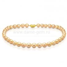 Ожерелье из персикового речного жемчуга. Артикул 8391