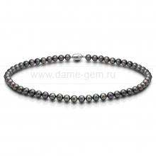 Колье (ожерелье) из серебристого морского жемчуга Акойя (Япония) 8,5-9 мм. Артикул 8406
