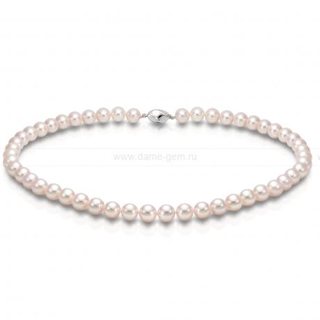 Колье (ожерелье) из белого морского жемчуга. Артикул 8408