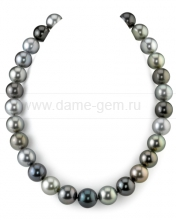 "Ожерелье ""микс"" из круглого морского Таитянского жемчуга 12-16,1 мм. Артикул 8412"