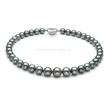 Колье (ожерелье) из темно-серого Таитянского морского жемчуга. Артикул 8418