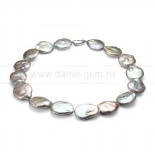 Колье (ожерелье) из серого барочного жемчуга. Артикул 8439