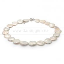 Колье (ожерелье) из белого барочного жемчуга 15-17 мм. Артикул 8441
