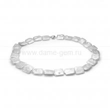 Колье (ожерелье) из белого барочного жемчуга 20 мм. Артикул 8442
