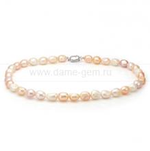 """Ожерелье """"микс"""" из розового барочного жемчуга 9-10 мм. Артикул 8679"""