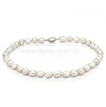 Ожерелье из белого барочного речного жемчуга 9-10 мм. Артикул 8683