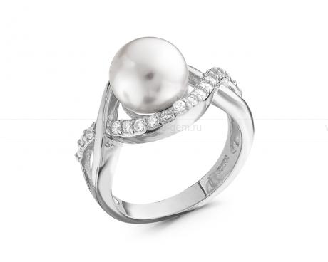 Кольцо с белой жемчужиной. Артикул 8766