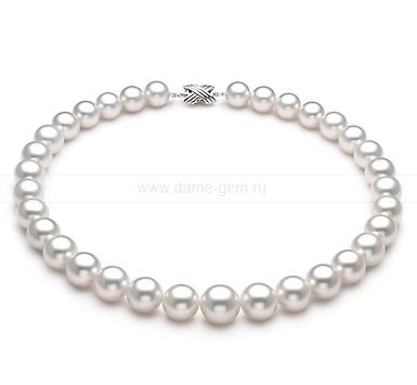 Колье (ожерелье) из белого морского Австралийского жемчуга. Артикул 9098