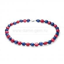 Колье (ожерелье) из цветного жемчуга. Артикул 9100