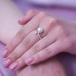 Кольцо из серебра с белой жемчужиной. Артикул 9246