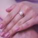 Кольцо из серебра с белой жемчужиной 8,5-9 мм. Артикул 9250