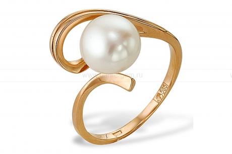 Кольцо из серебра 925 пробы с белой речной жемчужиной 8-8,5 мм. Артикул 9251