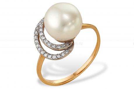 Кольцо из серебра 925 пробы с белой жемчужиной 8-8,5 мм. Артикул 9252