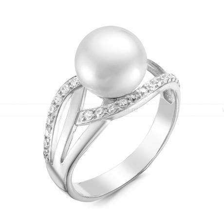 Кольцо из серебра с белой жемчужиной. Артикул 9255