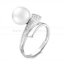Кольцо из серебра с белой речной жемчужиной 8,5-9 мм. Артикул 9261