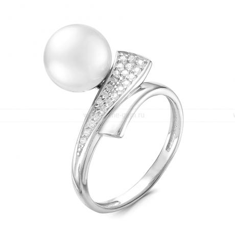 Кольцо из серебра с белой жемчужиной 8,5-9 мм. Артикул 9261