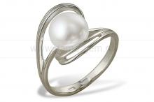 Кольцо из белого золота с белой жемчужиной 7-7,5 мм. Артикул 9328