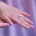 Кольцо из серебра с белой жемчужиной 7-7,5 мм. Артикул 9446