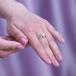 Кольцо из серебра с белой жемчужиной 7-7,5 мм. Артикул 9455