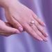 Кольцо из серебра с белой жемчужиной. Артикул 9459