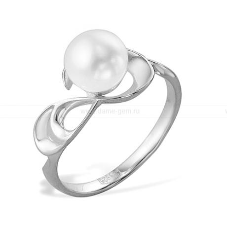 Кольцо из серебра с белой жемчужиной. Артикул 9463