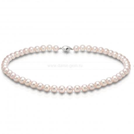 Ожерелье из белого морского жемчуга Акойя (Япония) 8-8,5 мм. Артикул 9480
