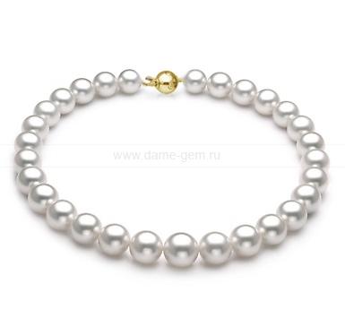 Колье (ожерелье) из белого морского Австралийского жемчуга. Артикул 9490