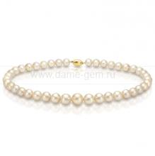 Колье (ожерелье) из золотистого морского Австралийского жемчуга. Артикул 9494