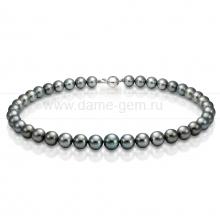 Колье (ожерелье) из черного Таитянского морского жемчуга. Артикул 9498